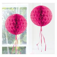 Decoratie bol fel roze 30 cm