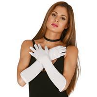 Bellatio Voordelige witte gala handschoenen voor volwassenen