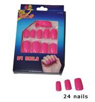 Funny Fashion Roze neon nepnagels