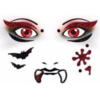 Bellatio Gezicht stickers vampier 1 vel
