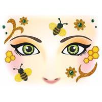 Bellatio Gezicht stickers bijen 1 vel
