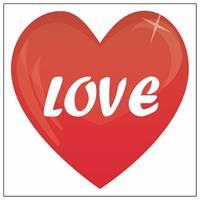 Shoppartners Love hartjes sticker 10,5 cm