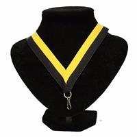 Halslint zwart/geel