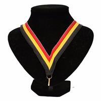 Halslint zwart/geel/rood