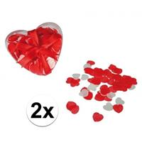 Rode hartjes bad confetti gram