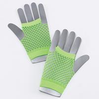Groene korte visnet handschoenen voor volwassenen