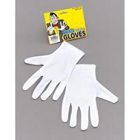 Witte korte handschoenen voor volwassenen