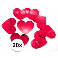 20x mega confetti rode hartjes