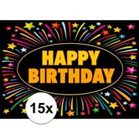 Shoppartners 15x Verjaardag wenskaart Happy Birthday