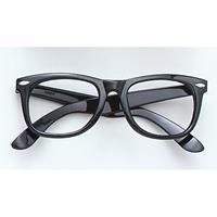 Zwarte bril zonder glazen Zwart