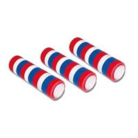 3 stuks Serpentine rollen rood/wit/blauw Multi