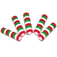 5 stuks Serpentine rollen groen/rood/wit Multi
