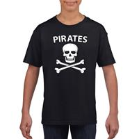 Shoppartners Piraten verkleed shirt zwart kinderen (134-140) Zwart