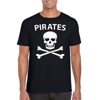 Shoppartners Piraten verkleed shirt zwart heren Zwart