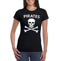 Shoppartners Piraten verkleed shirt zwart dames Zwart