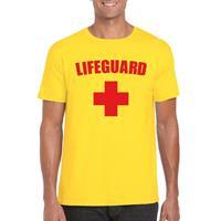 Shoppartners Lifeguard/ strandwacht verkleed shirt geel heren Geel
