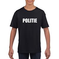 Shoppartners Politie tekst t-shirt zwart kinderen (134-140) Zwart