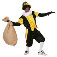 Gele zwarte pieten kostuum budget Geel