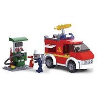 Sluban kleine brandweerauto met pompstation