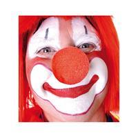 10x stuks rode clowns neus/neuzen foam Rood