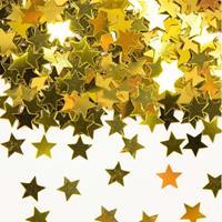 Gouden sterren confetti zakjes van 28 gram Goudkleurig
