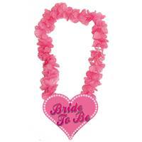 Folat Vrijgezellenfeest Bride to be bloemenkrans Roze