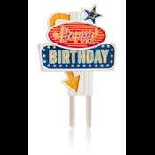 Happy Birthday caketopper met verlichting