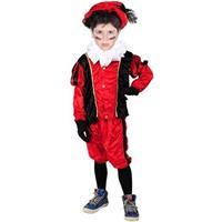 Roetveeg Pieten kostuum rood/zwart voor kinderen