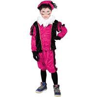 Roetveeg Pieten kostuum roze/zwart voor kinderen