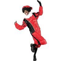 Roetveeg Pieten kostuum rood/zwart voor volwassenen