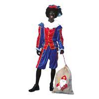 Voordelig roetveeg Pieten kostuum blauw/rood unisex Blauw