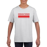 Shoppartners Dokter logo t-shirt wit voor kinderen
