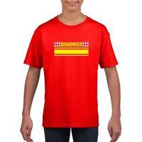 Shoppartners Brandweer logo t-shirt rood voor kinderen