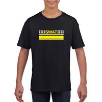 Shoppartners SWAT team logo t-shirt zwart voor kinderen