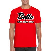 Shoppartners Toppers - Rood Bella Ciao t-shirt voor heren