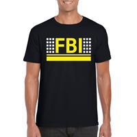 Shoppartners FBI logo t-shirt zwart voor heren