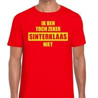 Shoppartners Sint shirt rood Ik ben toch zeker Sinterklaas niet voor mannen (48) Rood
