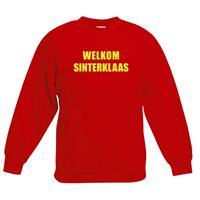 Shoppartners Rode Sinterklaas trui / sweater Welkom Sinterklaas voor kinderen