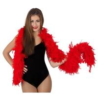 Toppers - Luxe rode boa 180 cm Rood