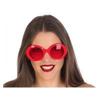 Fiesta carnavales Rode ronde verkleed zonnebril Rood