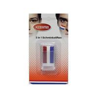 2x Holland schmink stick rood wit blauw Multi