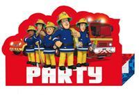 Amscan Uitnodigingskaartjes Brandweerman Sam