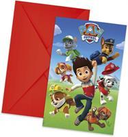 Nickelodeon 6 Paw Patrol Ready for Action uitnodigingen en enveloppen
