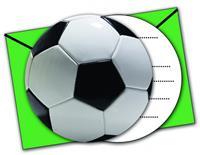 Procos uitnodigingen voetbal 16 cm 6 stuks groen