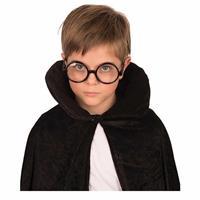 Zwarte bril met ronde glazen Zwart