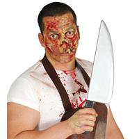 Halloween - Horror slagersmes/vleesmes Halloween verkleed accessoire 43 cm Multi
