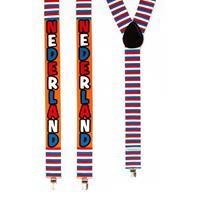 Verkleed bretels Nederland rood/wit/blauw Multi
