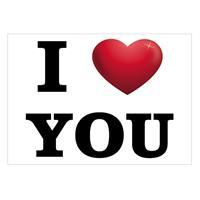 Bellatio I Love You ansichtkaart/wenskaart Multi