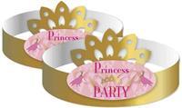 Haza Original kroontjes Princess Party 6 stuks goud/roze