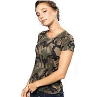 Kariban Soldaten / leger verkleedkleding camouflage shirt dames Groen